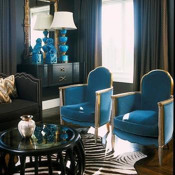 Turquoise Velvet Chairs, Contemporary, living room, David McCauley Interior Design