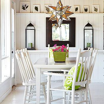 White Painted Floors, Cottage, dining room, Laura Hay Decor Design