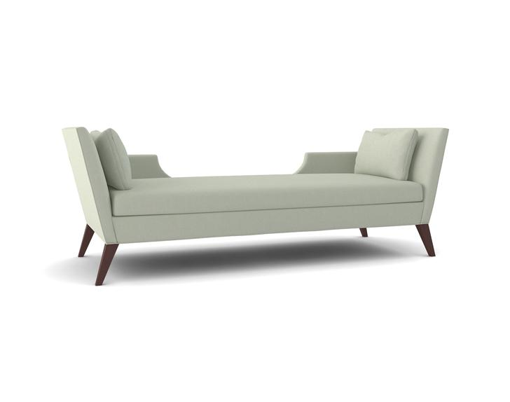 The Sandra Napper Double Gray Contemporary Chaise  sc 1 st  Decorpad : chaise lounge size - Sectionals, Sofas & Couches