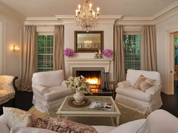 Shabby chic living room cottage living room rachel for Trendy living room