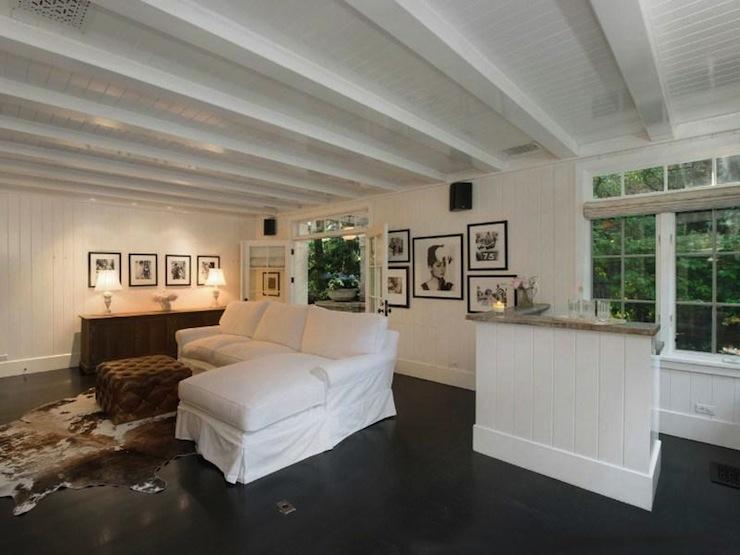 Ebonized wood floors transitional living room rachel for Rachel ashwell house