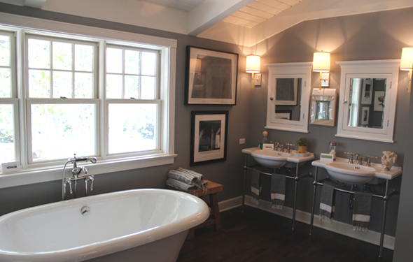 White Medicine Cabinets - Transitional - Bathroom - Brown Design