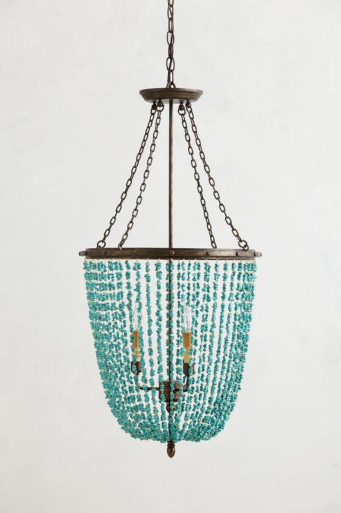 turquoise chandelier lighting. Turquoise Beaded Rivulets Chandelier Lighting