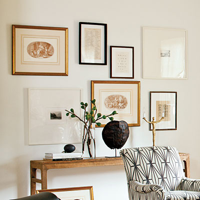 Art Over Console Table Transitional Entrance Foyer