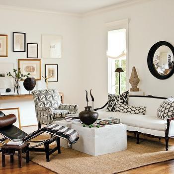 Vintage Settee, Transitional, living room, Lindsey Meadows