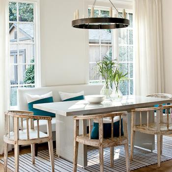Gray Dining Table, Transitional, dining room, Lindsey Meadows