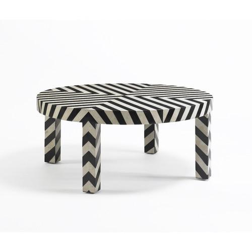 DwellStudio Black and White Chevron Coffee Table - Trip Cartoon Black And White Coffee Table By Seletti