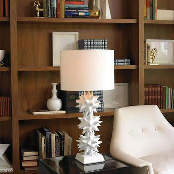 DwellStudio Urchin Lamp in White, DwellStudio