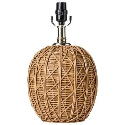 Nate berkus woven rattan round table lamp base aloadofball Images
