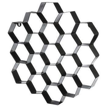 Nate Berkus Metal Honeycomb Wall Art, Black I Target
