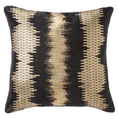 BLack And Gold Foil Static Print Decorative Pillow Extraordinary Black And Beige Decorative Pillows
