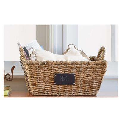 sc 1 st  Decorpad & Smith and Hawken Small Woven Chalkboard Label Basket