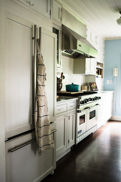 Hidden Refrigerator Cottage Kitchen Kimberly Taylor
