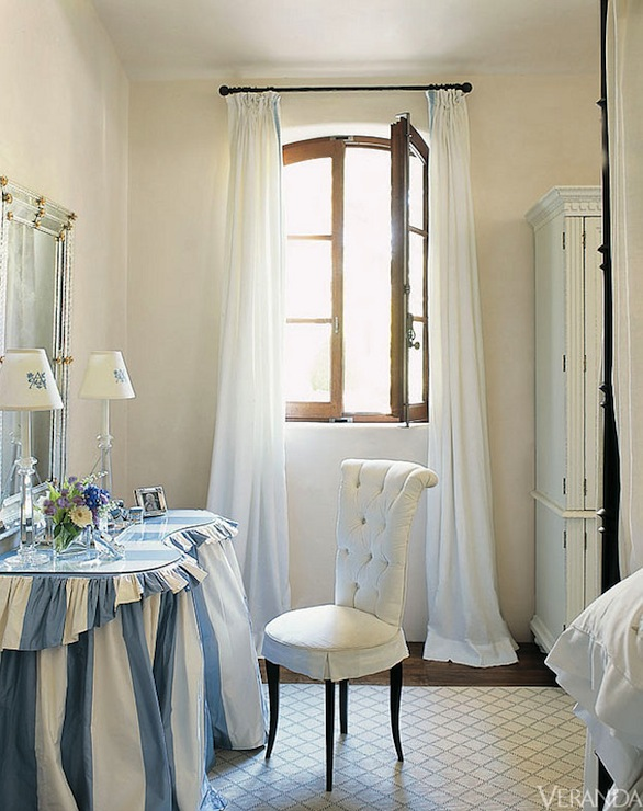 Ruffled Vanity - French - bedroom - Veranda