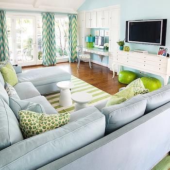Chevron Drapes, Contemporary, living room, Tracy Hardenburg Designs