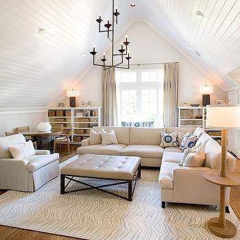 Attic family room transitional living room tracy hardenburg designs for Beadboard ideas for living room