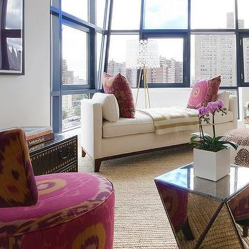 Suzani Chair, Contemporary, living room, Spruce Interior Design