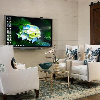 Wingback Chairs, Transitional, media room, Olive Interiors