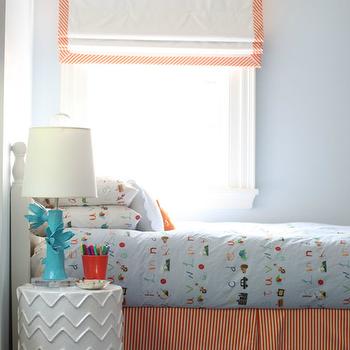 Striped Bedskirt, Contemporary, boy's room, Cynthia Brooks Design