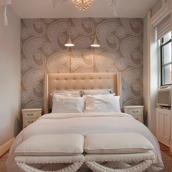 Good Ivory And Gray Bedroom