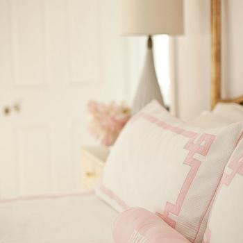 Greek Key Bedding, Transitional, bedroom, Cynthia Brooks Design
