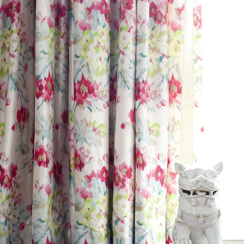pleated custom flowers schumacher drapes gray fullxfull grey floral print hothouse beige il tan curtains curtain panel products