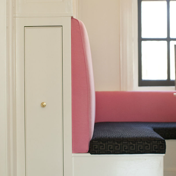 Pink Banquette, Contemporary, dining room, Cynthia Brooks Design
