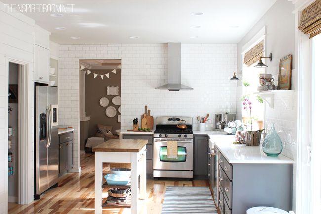 Grey cabinets transitional kitchen benjamin moore for Kitchen remodel inspiration