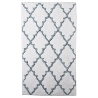 Target Home Ogie Gray Scalloped Diamonds Pattern Bath Rug