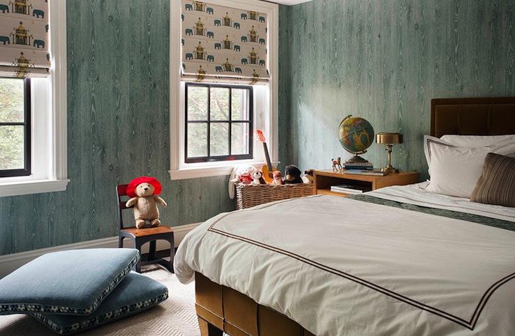Faux Bois Wallpaper faux bois wallpaper - contemporary - bedroom - nina farmer interiors