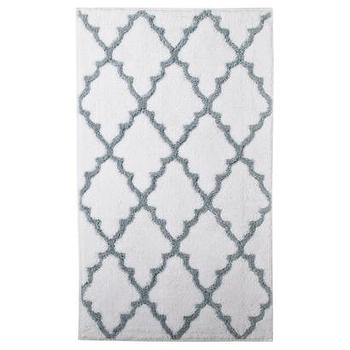 Gray And White Scroll Bath Rug - Products, bookmarks, design ...