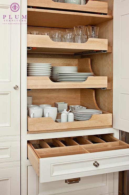 Pull out shelves traditional kitchen mcgill design group for Sliding drawers for kitchen cabinets