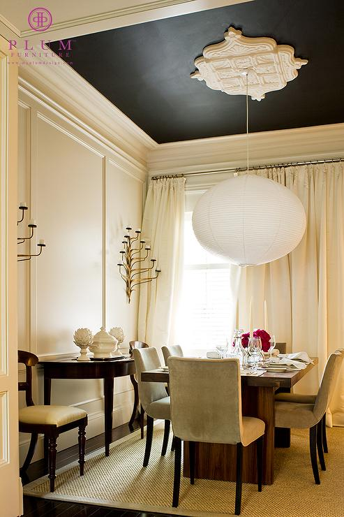 Painted ceiling design ideas for Dining room ceiling paint ideas