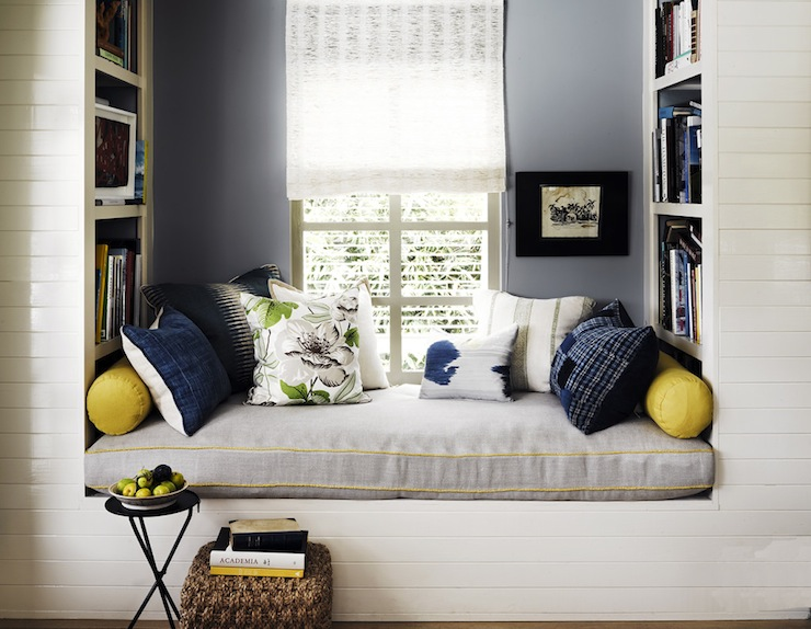 Reading nook ideas transitional bedroom jeffrey alan Window seat reading nook