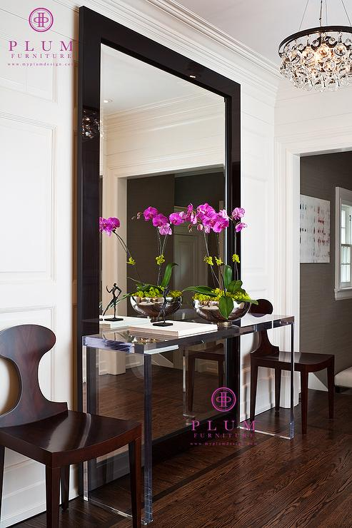 Foyer Mirror Height : Lucite console table contemporary foyer mcgill design