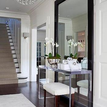 Floor Mirror Behind Table Design Ideas