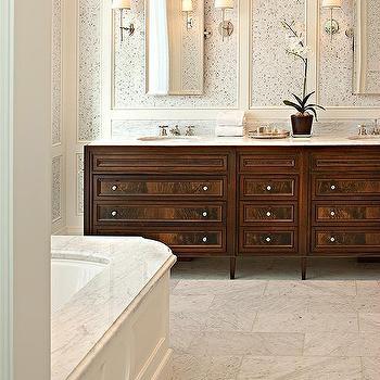 Mahogany Washstand Transitional Bathroom