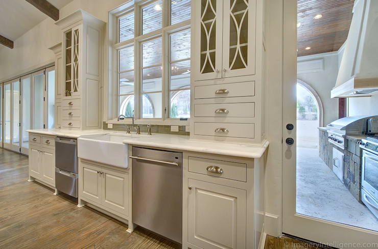 Decorative Glass Kitchen Cabinets