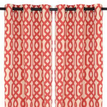 Lattice Print Gatehill Curtain Panels