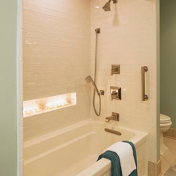 Blue Tiled Tub Niche Design Ideas
