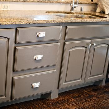 Grey KItchen Cabinets, Transitional, kitchen, Sherwin Williams Porpoise, Gypsy Soul Interiors