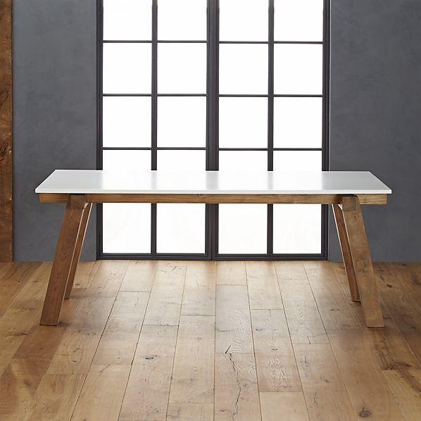 Riviera Rectangular White Top Wood Bottom Dining Table : dec4e995f5be from www.decorpad.com size 598 x 598 jpeg 40kB