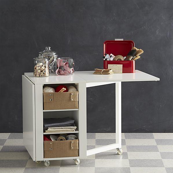 White 3 Shelves Hobby Table