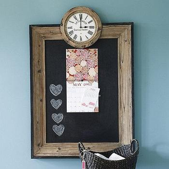 Magnetic Chalkboard with Clock, Ballard Designs