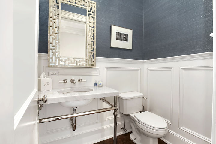 Powder room wainscoting design ideas - Bathroom remodel ideas with wainscoting ...