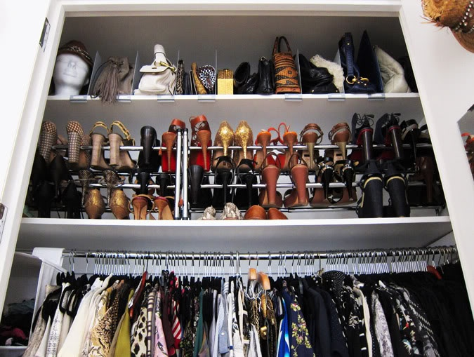 Merveilleux Amazing Compact Closet With Horizontal Storage Featuring Top Shelf For Bags  Divided With Partitions; Second Shelf Assigned To Shoes; As Well As, ...