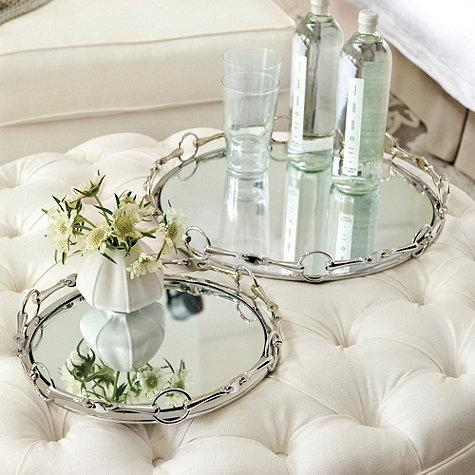 French Link Mirrored Tray