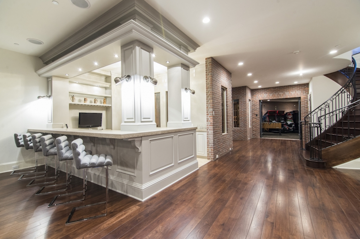 Basement wet bar contemporary basement for Basement wet bar plans