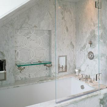 Attic Shower Ideas, Transitional, bathroom, Carole Reed Design