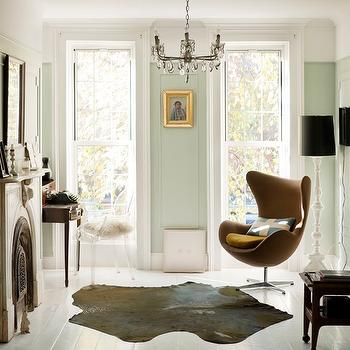 Living-rooms Mint Green Powder Room Walls Design Ideas